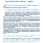 Hazard Label Specification Guidance Document 2018
